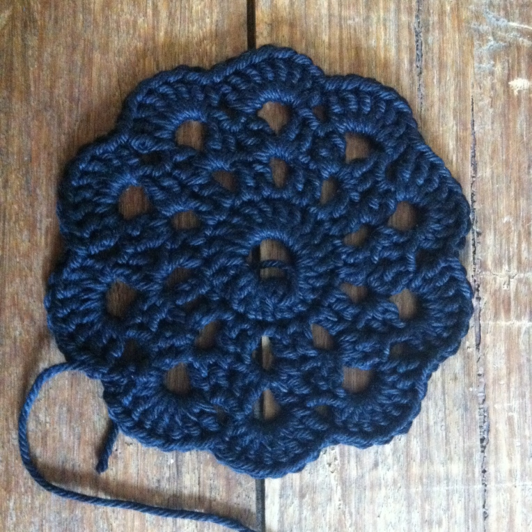 Black Crochet Coaster 1