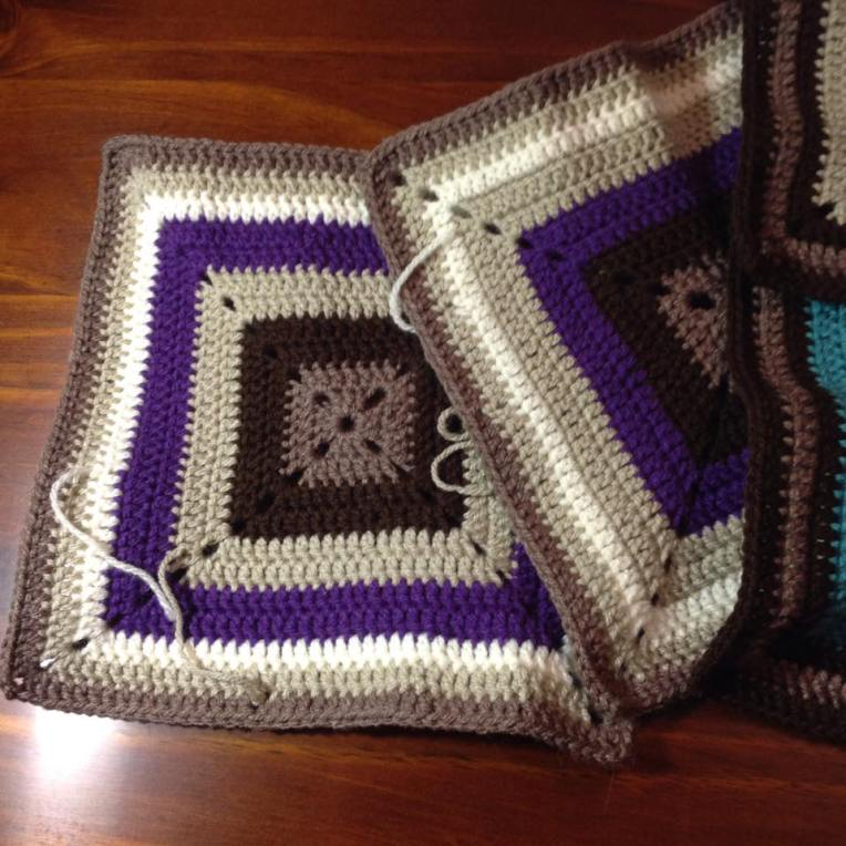 Plain squares together 3