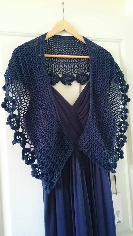 wedding shawl complete